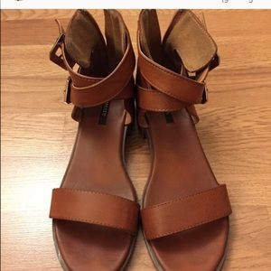Brown strappy Forever 21 sandals